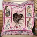 Theartsyhomes Book D1003 84o33 3D Personalized Customized Quilt Blanket ESR35