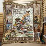 Theartsyhomes Book: When People Ask What I Do At All Time 3D Personalized Customized Quilt Blanket ESR13