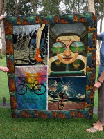 Theartsyhomes Bicycle 3D Personalized Customized Quilt Blanket ESR26