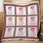 Theartsyhomes Elephant M0501 83o33 3D Personalized Customized Quilt Blanket ESR15
