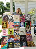 Theartsyhomes Diplo 3D Personalized Customized Quilt Blanket ESR15