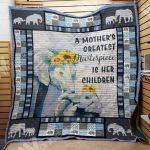 Theartsyhomes Elephant Mom M2203 82o34 3D Personalized Customized Quilt Blanket ESR26