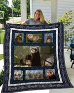 Theartsyhomes Ferret 3D Personalized Customized Quilt Blanket ESR7
