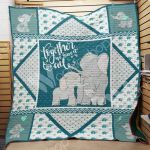 Theartsyhomes Elephant F2505 82o41 3D Personalized Customized Quilt Blanket ESR3