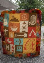 Theartsyhomes Camping And Campass 3D Personalized Customized Quilt Blanket ESR48