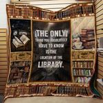 Theartsyhomes Book Library 3D Personalized Customized Quilt Blanket ESR14
