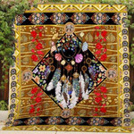 Theartsyhomes Bohemian Mh20 3D Personalized Customized Quilt Blanket ESR39