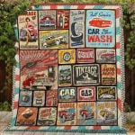 Theartsyhomes Car Service Retro 3D Personalized Customized Quilt Blanket ESR41