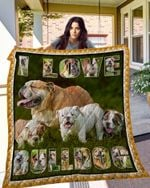 Theartsyhomes Bulldog 3D Personalized Customized Quilt Blanket ESR22