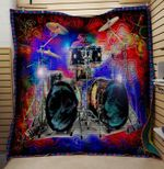 Theartsyhomes DRUM 1 3D Personalized Customized Quilt Blanket ESR47