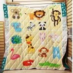 Theartsyhomes Cute Animals 3D Personalized Customized Quilt Blanket ESR26