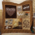 Theartsyhomes Book Writer 3D Personalized Customized Quilt Blanket ESR38