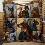 Theartsyhomes Doberman Pinscher Dog 3D Personalized Customized Quilt Blanket ESR20