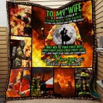 Theartsyhomes Firemen To My Wife Hqt-Qvk00054 3D Personalized Customized Quilt Blanket ESR17