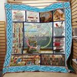 Theartsyhomes Book D1312 85o08 3D Personalized Customized Quilt Blanket ESR44