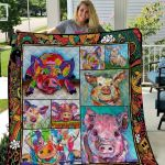 Theartsyhomes Colorful Pi Printing Htt-Qhg00074 3D Personalized Customized Quilt Blanket ESR36