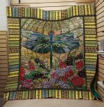 Theartsyhomes Dragonfly And Flower V1 3D Personalized Customized Quilt Blanket ESR2