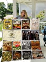 Theartsyhomes Blackberry Smoke 3D Personalized Customized Quilt Blanket ESR50