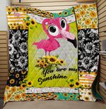 Theartsyhomes Flamingo You Are My Sunshine Sunflower 3D Personalized Customized Quilt Blanket ESR29
