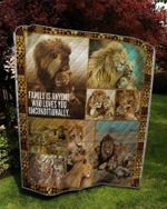 Theartsyhomes Family lion 3D Personalized Customized Quilt Blanket ESR19