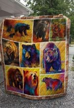 Theartsyhomes Bear V1 3D Personalized Customized Quilt Blanket ESR24