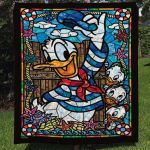Theartsyhomes Donald Duck 3D Personalized Customized Quilt Blanket ESR37