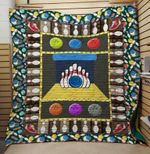 Theartsyhomes BOWLING 3D Personalized Customized Quilt Blanket ESR34