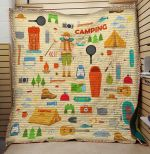 Theartsyhomes Camping And Necessary Things 3D Personalized Customized Quilt Blanket ESR49