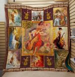 Theartsyhomes CELLO 3D Personalized Customized Quilt Blanket ESR46