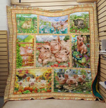 Theartsyhomes Family pig 3D Personalized Customized Quilt Blanket ESR20