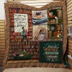 Theartsyhomes Book N2704 82o03 3D Personalized Customized Quilt Blanket ESR43