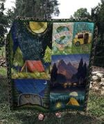 Theartsyhomes CAMPING: Enjoy Life 3D Personalized Customized Quilt Blanket ESR3