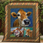 Theartsyhomes Cow #Bfeb-2 3D Personalized Customized Quilt Blanket ESR43