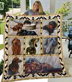 Theartsyhomes Dachshund Phdog12001 3D Personalized Customized Quilt Blanket ESR11