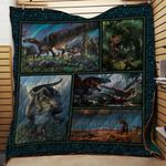 Theartsyhomes Dinosaurs V2 3D Personalized Customized Quilt Blanket ESR11