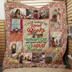 Theartsyhomes Book With My Cat 3D Personalized Customized Quilt Blanket ESR31