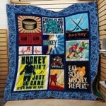 Theartsyhomes Eat. Sleep. Hockey. Repeat. V2 3D Personalized Customized Quilt Blanket ESR42