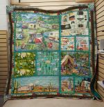 Theartsyhomes Camping Outdoor 3D Personalized Customized Quilt Blanket ESR30