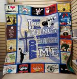 Theartsyhomes BOWLING Christ 3D Personalized Customized Quilt Blanket ESR37