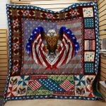 Theartsyhomes Eagle Veteran 3D Personalized Customized Quilt Blanket ESR15