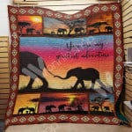 Theartsyhomes Elephant M1503 85o35 3D Personalized Customized Quilt Blanket ESR34