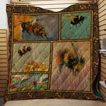 Theartsyhomes Bees V1 3D Personalized Customized Quilt Blanket ESR37