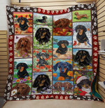 Theartsyhomes Dachshund dog 3D Personalized Customized Quilt Blanket ESR40