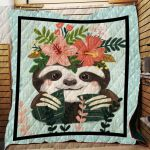 Theartsyhomes Cute Sloth 3D Personalized Customized Quilt Blanket ESR46