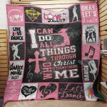 Theartsyhomes Dance M0703 83o34 3D Personalized Customized Quilt Blanket ESR5