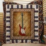 Theartsyhomes Electric Guitar 3D Personalized Customized Quilt Blanket ESR34