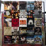 Theartsyhomes Bon Jovi 3D Personalized Customized Quilt Blanket ESR4