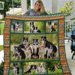 Theartsyhomes Border Collie Qui17007 3D Personalized Customized Quilt Blanket ESR42