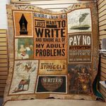 Theartsyhomes Book Writer Attention 3D Personalized Customized Quilt Blanket ESR33