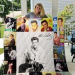 Theartsyhomes Elvis Presley Two 3D Personalized Customized Quilt Blanket ESR8